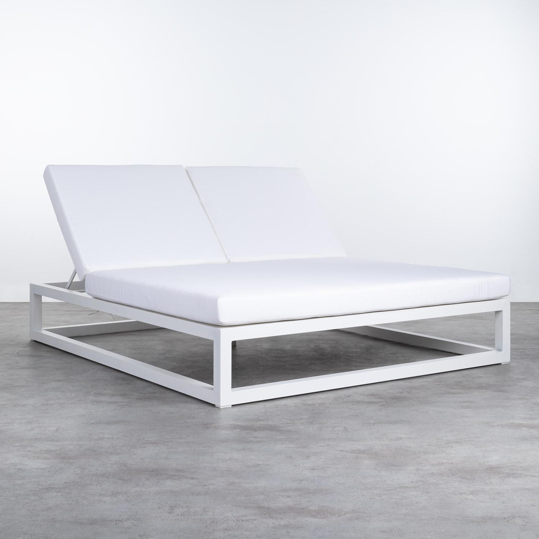 Verstellbare Doppel-Liege aus Aluminium und Stoff Kewin, Galeriebild 1