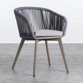 Outdoor Stuhl aus Aluminium und Seil Xile, Miniaturansicht 1
