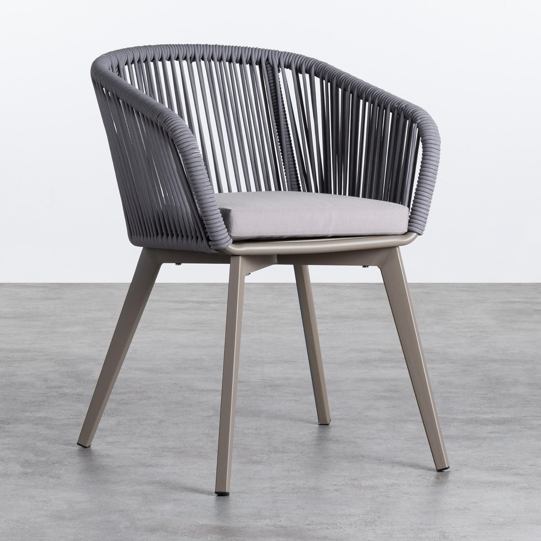 Outdoor Stuhl aus Aluminium und Seil Xile, Galeriebild 1