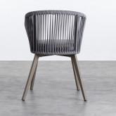 Outdoor Stuhl aus Aluminium und Seil Xile, Miniaturansicht 4