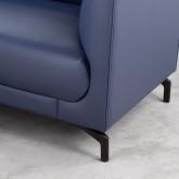 Sofa Chaiselongue rechts 4-Sitzer- aus Kunstleder Daka, Miniaturansicht 4