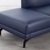 Sofa Chaiselongue rechts 4-Sitzer- aus Kunstleder Daka, Miniaturansicht 5