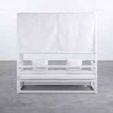 Balinesisches Sofa mit 2 Hockern aus Stoff und Aluminium Deira, Miniaturansicht 4