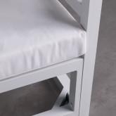 Balinesisches Sofa mit 2 Hockern aus Stoff und Aluminium Deira, Miniaturansicht 7