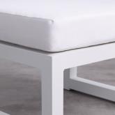 Balinesisches Sofa mit 2 Hockern aus Stoff und Aluminium Deira, Miniaturansicht 8