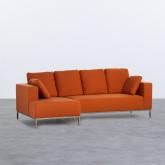 Sofa Chaiselongue links 4-Sitzer- aus Stoff Ynzha, Miniaturansicht 1