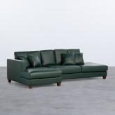 Sofa Chaiselongue links 4-Sitzer- aus Kunstleder Kesha, Miniaturansicht 1