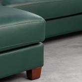 Sofa Chaiselongue links 4-Sitzer- aus Kunstleder Kesha, Miniaturansicht 6