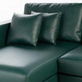 Sofa Chaiselongue links 4-Sitzer- aus Kunstleder Kesha, Miniaturansicht 7