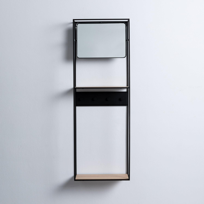 Foyer mit Spiegel aus MDF und Metall Stella, Galeriebild 1