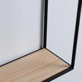 Foyer mit Spiegel aus MDF und Metall Stella, Miniaturansicht 5