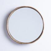 Wandspiegel Rund aus Holz (Ø40 cm) Banli, Miniaturansicht 1