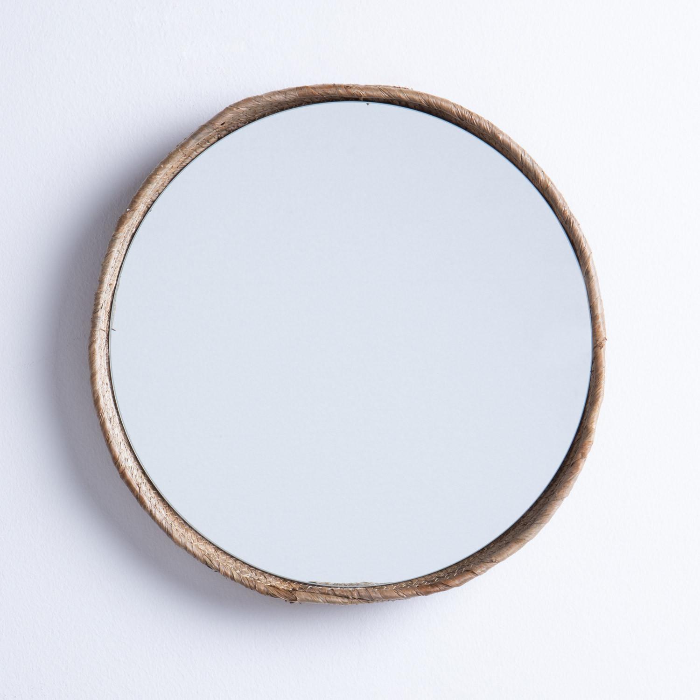 Wandspiegel Rund aus Holz (Ø40 cm) Banli, Galeriebild 1