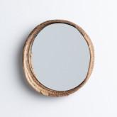Wandspiegel Rund aus Holz (Ø27 cm) Banli, Miniaturansicht 2