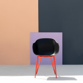 Esszimmerstuhl mit Armlehnen aus Polypropylen und Metall Jed Classic, Miniaturansicht 2