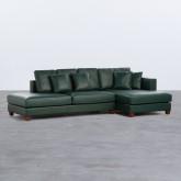 Sofa Chaiselongue rechts 4-Sitzer- aus Kunstleder Kesha, Miniaturansicht 1