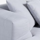 Sofa Chaiselongue rechts 4-Sitzer- aus Stoff Siblau, Miniaturansicht 4
