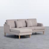 Sofa Chaiselongue links 3-Sitzer- aus Stoff Jhollis, Miniaturansicht 1
