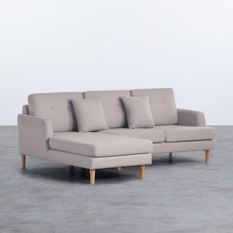 Sofa Chaiselongue links 3-Sitzer- aus Stoff Jhollis, Galeriebild 1