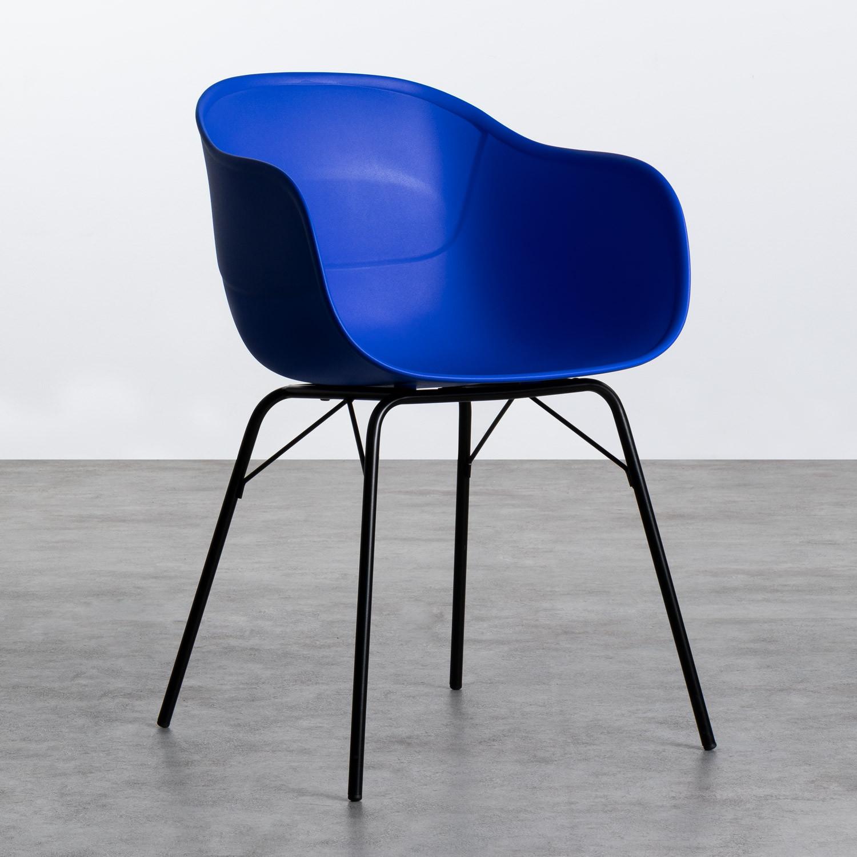 Esszimmerstuhl aus Polypropylen und Metall Jed Parxis, Galeriebild 1
