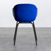 Esszimmerstuhl aus Polypropylen und Metall Jed Parxis, Miniaturansicht 3