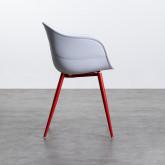 Esszimmerstuhl mit Armlehnen aus Polypropylen und Metall Jed Classic, Miniaturansicht 3