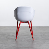 Esszimmerstuhl mit Armlehnen aus Polypropylen und Metall Jed Classic, Miniaturansicht 4