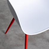Esszimmerstuhl mit Armlehnen aus Polypropylen und Metall Jed Classic, Miniaturansicht 6