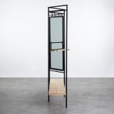 Garderobenständer mit Spiegel aus Metall und Holz (180x130 cm) Lumiel, Miniaturansicht 4