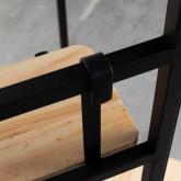 Garderobenständer mit Spiegel aus Metall und Holz (180x130 cm) Lumiel, Miniaturansicht 5