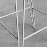 Hoher Hocker in Metall Born Rückenlehne (67 cm), Miniaturansicht 6
