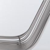 Hoher Hocker in Metall Born Rückenlehne (67 cm), Miniaturansicht 7