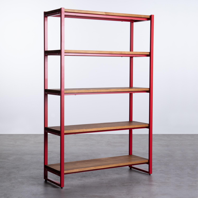 Regal aus Holz und Metall (155x100 cm) Morris, Galeriebild 1