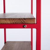 Regal aus Holz und Metall (155x100 cm) Morris, Miniaturansicht 4