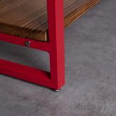 Regal aus Holz und Metall (155x100 cm) Morris, Miniaturansicht 6