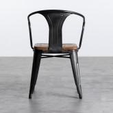 Esszimmerstuhl aus Stahl und Holz Industrial Wood, Miniaturansicht 4