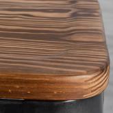 Esszimmerstuhl aus Stahl und Holz Industrial Wood, Miniaturansicht 7