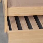Bett Haus aus Holz mit ausziehbarem Gästebett Neus für Matratze 9cm, Miniaturansicht 5
