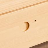 Bett Haus aus Holz mit ausziehbarem Gästebett Neus für Matratze 9cm, Miniaturansicht 6