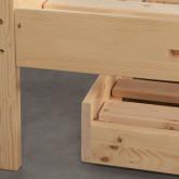 Bett Haus aus Holz mit ausziehbarem Gästebett Neus für Matratze 9cm, Miniaturansicht 7
