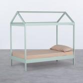 Bett Haus aus Holz Tinna für Matratze 90 cm, Miniaturansicht 1