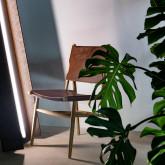 Esszimmerstuhl aus Leder und Holz Kove, Miniaturansicht 2
