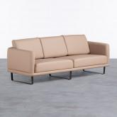 Sofa 3-Sitzer- in Kunstleder Descui, Miniaturansicht 1