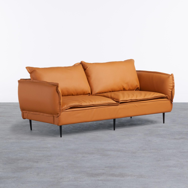 Sofa 3-Sitzer- in Kunstleder Laout, Galeriebild 1