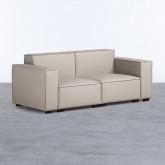 Sofa 3-Sitzer- in Kunstleder Zanqui, Miniaturansicht 1