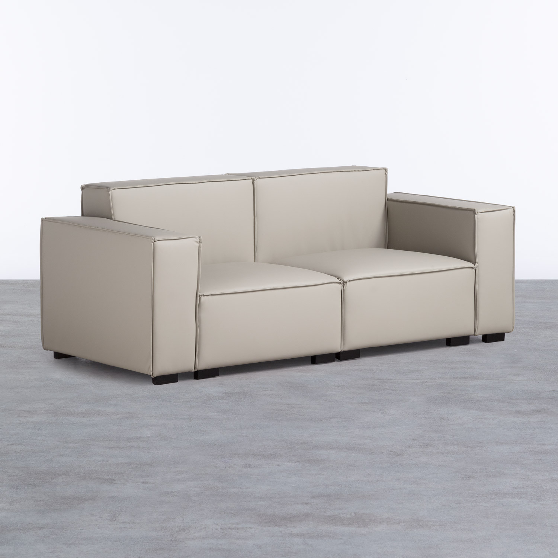Sofa 3-Sitzer- in Kunstleder Zanqui, Galeriebild 1