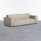 Sofa 4-Sitzer- in Kunstleder Zanqui, Miniaturansicht 1