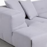 Sofa Chaiselongue links 4-Sitzer- aus Stoff Siblau, Miniaturansicht 4