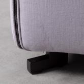 Sofa Chaiselongue links 4-Sitzer- aus Stoff Siblau, Miniaturansicht 5
