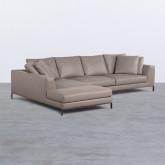 Sofa Chaiselongue rechts 4-Sitzer- aus Kunstleder Tandis, Miniaturansicht 1